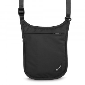 OP10139 澳洲 Pacsafe COVERSAFE V75 RFID 尼龍帶防盜貼身掛頸袋 Anti-theft Neck Pouch 暗袋