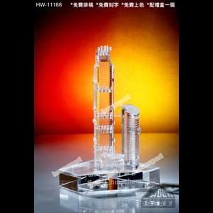 HW11188 全透明樓房模型水晶